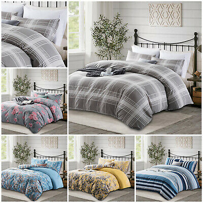 Reversible Duvet Quilt Cover Bedding Set Single Double King Size With Pillowcase • 12.99£