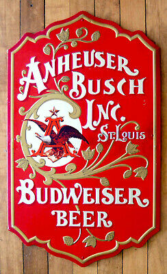 $ CDN94.96 • Buy Vintage 25  Metal Anheuser Busch Budweiser Beer Metal Sign Masonite Back 1976