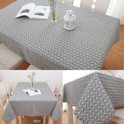 Cotton RectangularTable Cloth  Waterproof Tablecloth Kitchen Dining Tablecloths • 7.80£
