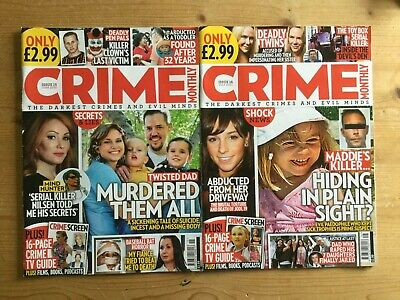 2 X CRIME MONTHLY MAGAZINE - ISSUES 15 & 16 - MINT - FREE P&P • 5.15£