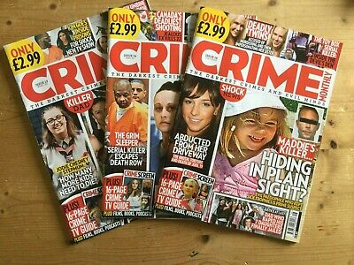 3 X CRIME MONTHLY MAGAZINE - ISSUES 13, 14 & 16 - MINT - FREE P&P • 7.50£