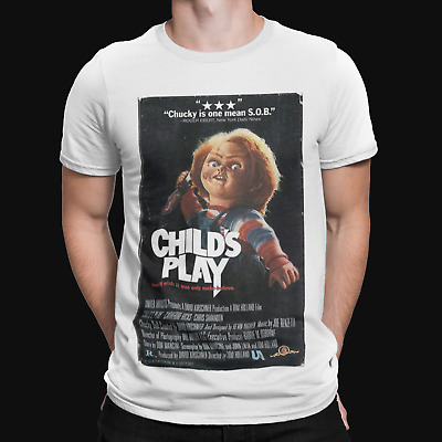 Child's Play Chucky T-Shirt - Halloween - Horror - Film - TV - Cool -Scary Retro • 5.99£