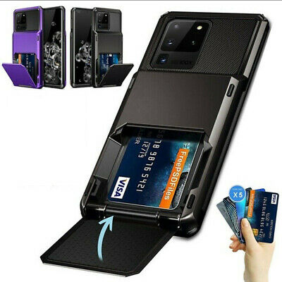 For Samsung S20 FE Note 20 Ultra S10 S9 Wallet Card Slot Holder Armor Case Cover • 5.99£