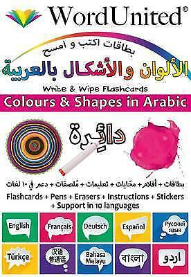 Colours And Shapes In Arabic: Write & Wipe Flashcards By , NEW Book, FREE & FAST • 10.59£