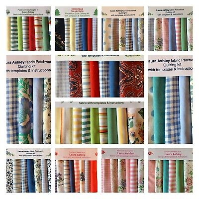 80 Piece. LAURA ASHLEY FABRIC PATCHWORK QUILT KITS - WE ARE POSTING AS NORMAL! • 16.50£