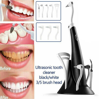 Electric Sonic Dental Scaler Tartar Calculus Plaque Remover Stains Cleaner Teeth • 9.59£