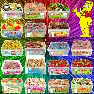 £9.99 • Buy Haribo Sweets 1 Full Tub Wholesale Discount Candy Box Party Favours Treats Kid