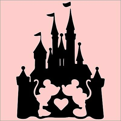 Mickey And Minnie Castle Vinyl Decal Sticker Disney Wall Art Mickey Mouse Laptop • 4.99£