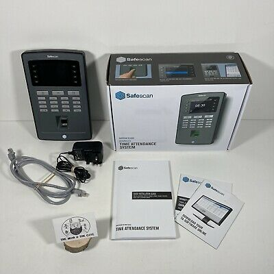 Safescan TA-8020 Clocking In System Fingerprint Staff Work Log In Analysis VGC • 129.99£