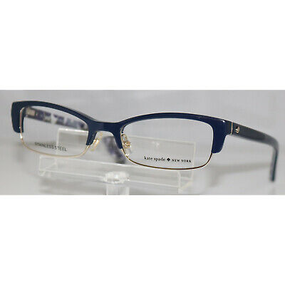 AU64.69 • Buy New Kate Spade Joetta 0FB2 Navy Dots Eyeglasses 52-18-135
