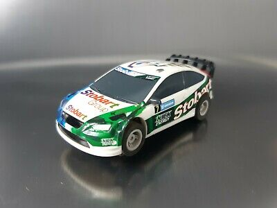 Micro Scalextric Car Ford Focus Rally WRC Stobart Working 1:64  Free Postage • 12£
