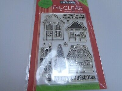 SALE New Hero Arts  Clear Stamps Christmas Sending Holiday Cheer  • 2£