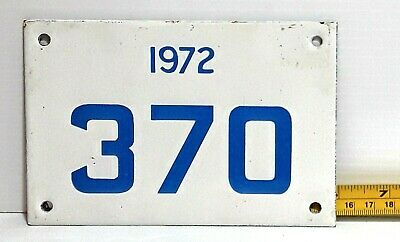 $ CDN193.34 • Buy GRENADA - 1972 Porcelain Motorcycle License Plate - VERY Low Registration  #s.
