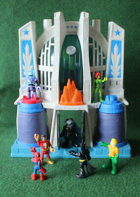 Batman Imaginext Mr Freeze +cave +Shazam Batman. Poison Ivy.Mantaman,Aquaman • 29.99£
