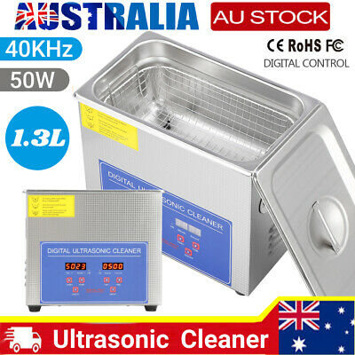AU73.75 • Buy 1.3L Digital Ultrasonic Cleaner Industry Stainless Cleaning Heater Tank & Timer