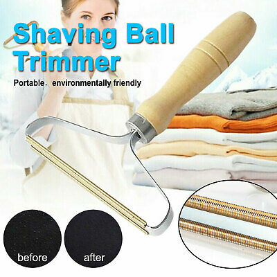 Wooden Clothes Fuzz Shaver Lint Pill Fluff Cleaner Remover Fabric Sweater Coat • 4.79£
