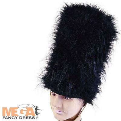 Bearskin Hat Royal Guard Fancy Dress British Queens Jubilee Costume Accessory • 6.49£