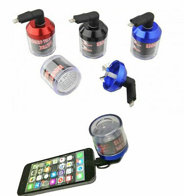 £6.99 • Buy USB Electric Herb Tobacco Grinder Power Up With Android Apple IPhones Randomcolo