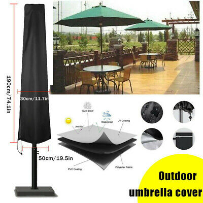 AU13.37 • Buy Outdoor Patio Umbrella Cover Waterproof Garden Parasol Sun/Rain/Dust Protection