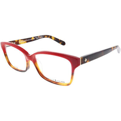 AU77.65 • Buy New Kate Spade Sharla 01Q0 Red Tortoise Fade Eyeglasses 53-14-135