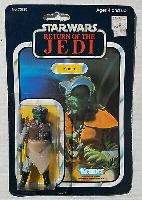 $ CDN230.62 • Buy Star Wars Vintage Klaatu Action Figure ROTJ 65 Back B Carded MOC Made In Mexico