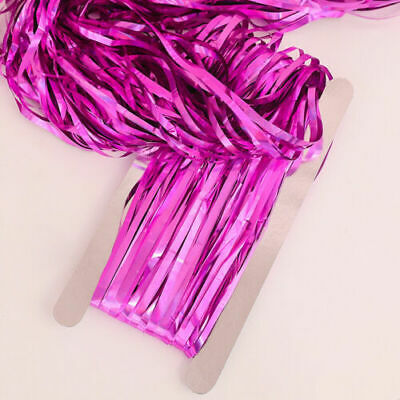 2M Long Party Decoration Foil Fringe Tinsel Shimmer Curtain Wedding Birthday • 0.99£