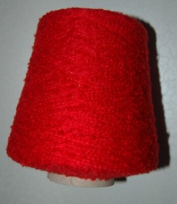 588g  CONE  YEOMAN  RED  BOUCLE  HAND /  MACHINE  KNITTING  YARN  REF#42 • 11.95£