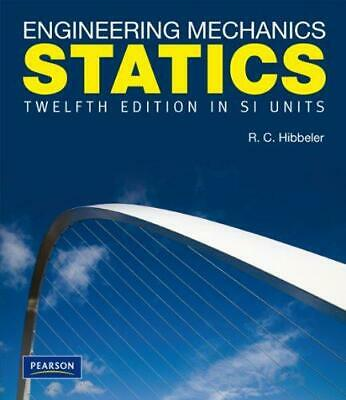 Engineering Mechanics Statics SI, Very Good Condition Book, Hibbeler, Russell C. • 19.30£