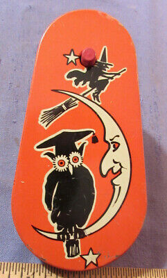 $ CDN23.71 • Buy Vintage Kirchhof Life Of The Party Halloween Noise Maker Witch Owl Moon