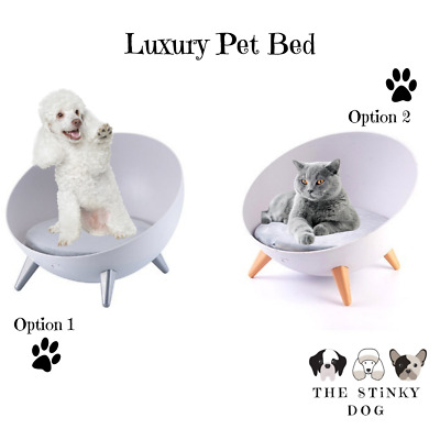 Dog Cat Bed Raised Chair Small Dog Puppy Pet Furniture Elevated Comfy Cushion UK • 32.99£