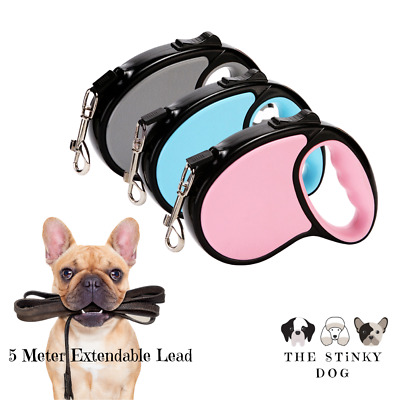 £9.99 • Buy Dog Retractable Leads Extendable 5-Meter Long Leash Small Large Dogs Collar UK