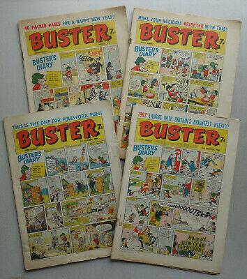 Buster Comic Special Issues 1966 X 4 New Year,Easter,Fireworks FR-VG Phil-comics • 0.99£