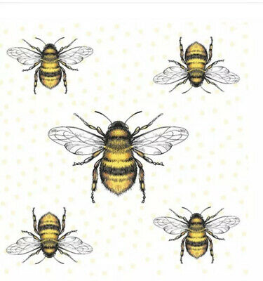 20 Paper Party Napkins Bee Bees Pack Of 20 3 Ply Serviettes Tissues • 5.24£