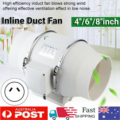 AU50.99 • Buy 4/6/8 Inch Silent Extractor Fan Duct Hydroponic Inline Exhaust Industrial Vent B