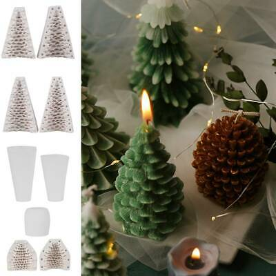 DIY Christmas Candles Mould Wax Candle Mold Aromatherapy Candle 3D Silicone Mold • 5.49£
