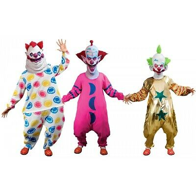 $62.99 • Buy Killer Klowns From Outer Space Costume Scary Clown Halloween Fancy Dress