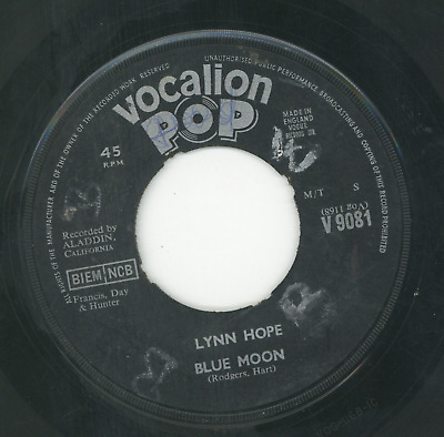 BLUE MOON.  Lynn Hope. VOCALION POP 7in. • 5.95£