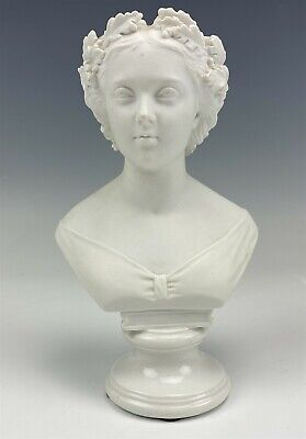 $ CDN8.57 • Buy Mystery Maker White Bisque Porcelain Greco Roman Lady 7  Bust Head Sculpture RAM