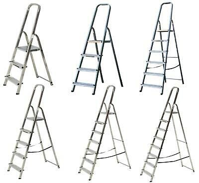 Aluminium Step Ladder EN131 Folding Platform Steps Grab Rail Youngman Stepladder • 67.25£