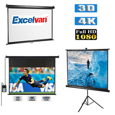 AU85.99 • Buy Electric RC Wall Projector Screen HD Home Theater Outdoor 3D Movie Tripod Stand