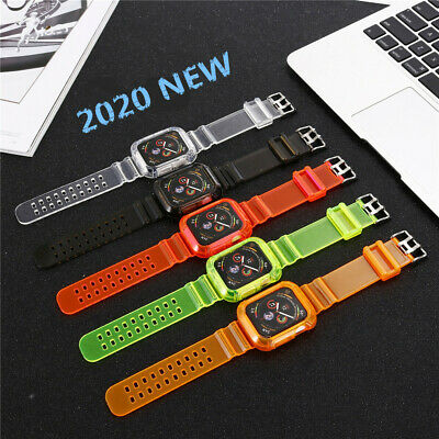 AU15.99 • Buy Watch Band Strap Silicone Colorful TPU Clear For Apple Watch Series 6/5/4/3/2/1