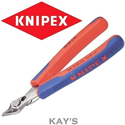 KNIPEX SIDE CUTTER SNIPS 125mm PRECISION TIP CUTTING PLIERS ELECTRONIC WIRE 7803 • 18.49£