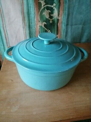 Le Creuset Casserole Blue 20cm Used  In Good Condition  • 30£