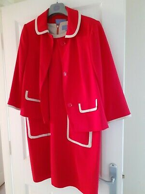 Ladies Smart Two Piece Dress And Jacket Size 16 • 2.50£