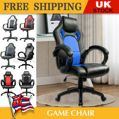 Racing Gaming Chairs Game Chair Soft Seat Office Armchair Executive Computer UK • 37.99£