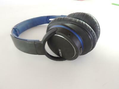 Sony Wireless MDR-ZX770BN Noise Cancelling Headphones Bluetooth Black Blue • 8.50£