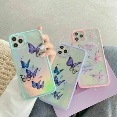 Creative Clear Butterfly Silicone Phone Case For IPhone 7 8 Plus 12 11Pro Max XR • 3.99£
