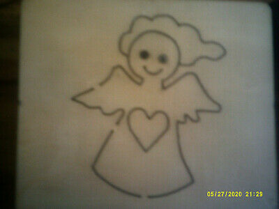 BABY ANGEL W HEART & WINGS * NEW  DISCONTINUED  * WOODEN DIE CUTTER + FREE GIFT • 7.50£