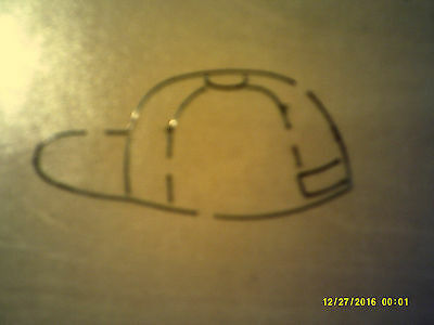 Large Cappy's Cap  *  Retired Rare Accucut * Applique * Wooden Die * + Free Gift • 7.50£