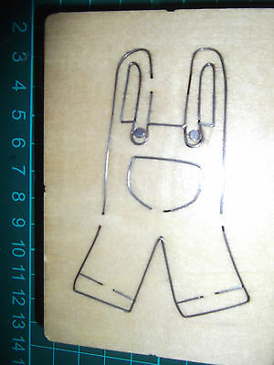 BABY OVERALLS  / DUNGAREES / TROUSERS *  Cross-cuts * Retired Wooden Die Cutter • 4.99£